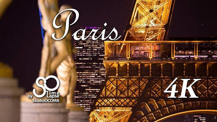 4K Timelapse & Hyperlapse of Paris, Eiffel Tower, Montmartre, Seine