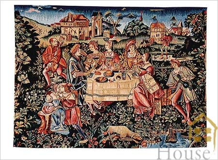 The Banquet Tapestry Showing Engagement Banquet Of Louis