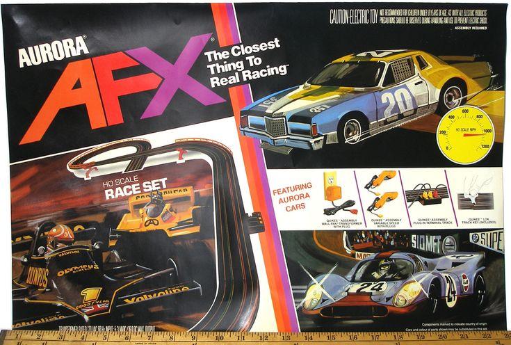 1983 Aurora AFX G+ HO Slot Car RACE SET COVER ART PRINT Original Box Overlay OEM   eBay