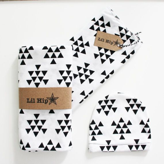 Monochrome Triangle Geometric Newborn Gift Pack/ by LilHipStar