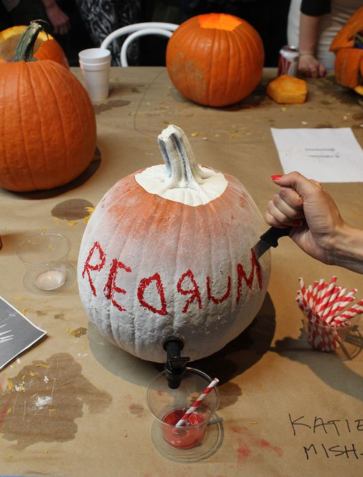 Ideas for next Halloween's pumpkin carving contest by The Sight Unseen X Snarkitecture Pumpkin-Carving Contest.