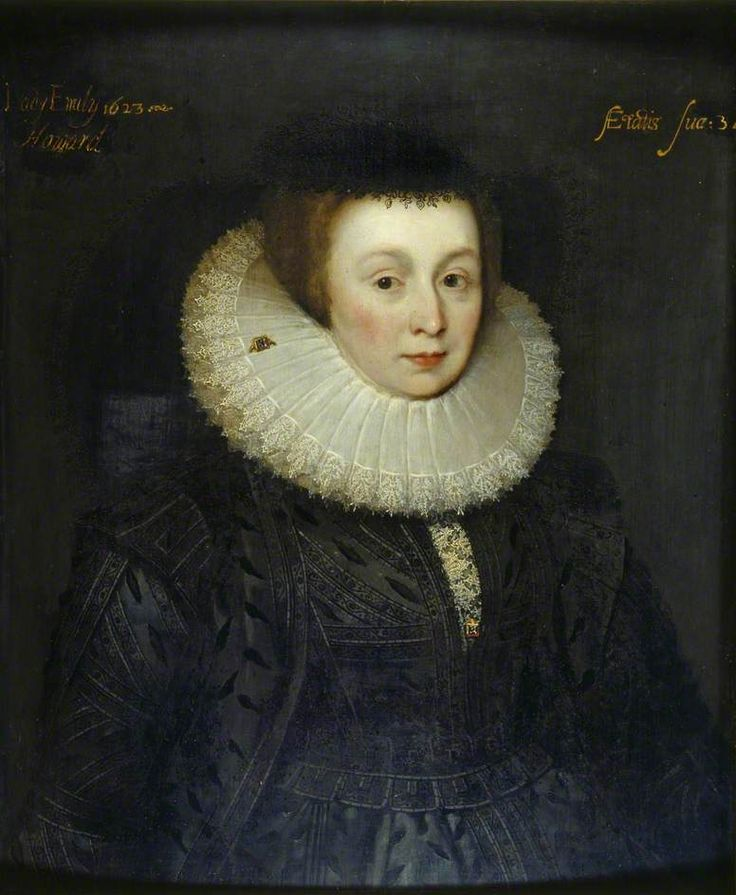 """Lady Emily Howard (?)"", school of Marcus Gheeraerts the younger, ca. 1623; English Heritage, Kenwood, 88019168"