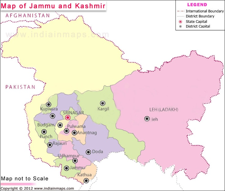 Jammu and Kashmir Map
