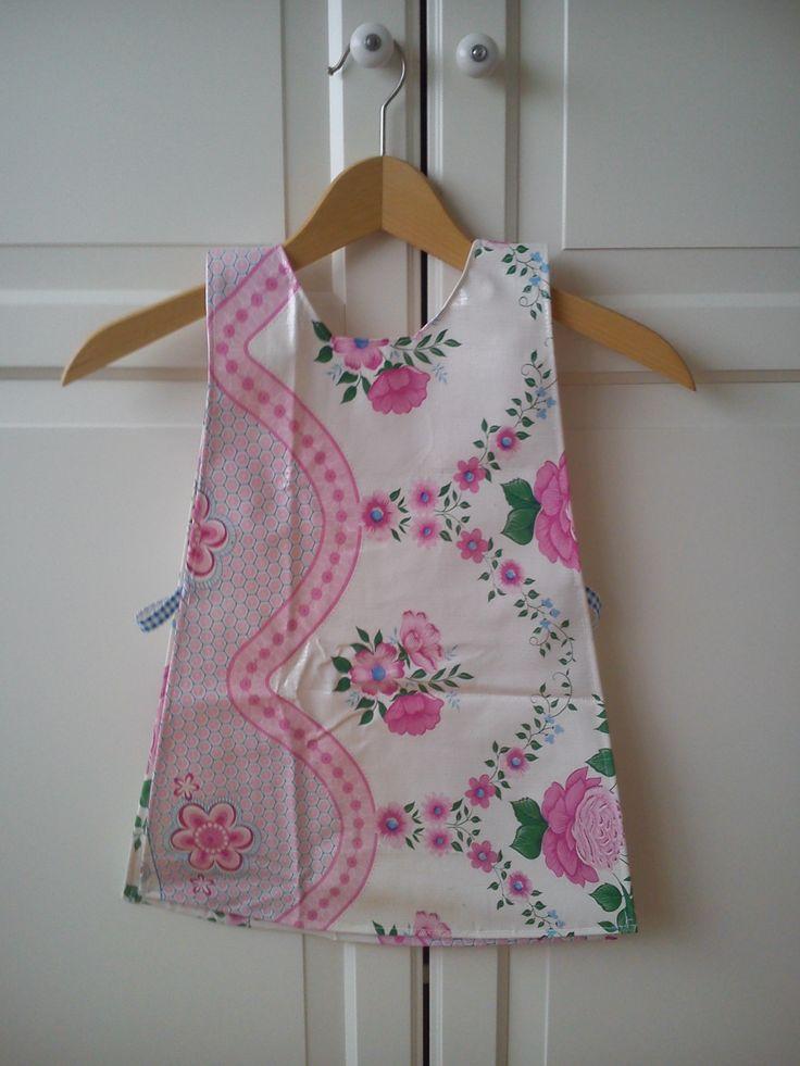 #roze #bloemen  #kliederschort  voor #peuters en #kleuters, #bakschort, #kookschort, #keukenschort, #kids