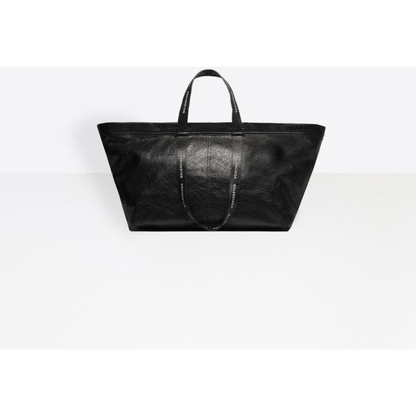 Balenciaga Carry Shopper L Carry Bags ($2,350) ❤ liked on Polyvore featuring men's fashion, men's bags, black, man bags carry bags, mens pouch bag, balenciaga mens bag, mens leather purses bags, mens purse bags and mens leather bag