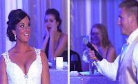 ΦΟΒΕΡΟ  Ο γαμπρός πήρε το μικρόφωνο και τα λόγια του έκαναν τη νύφη να τρέμει Τότε της ζητάει να κοιτάξει πίσω της! (ΒΙΝΤΕΟ)