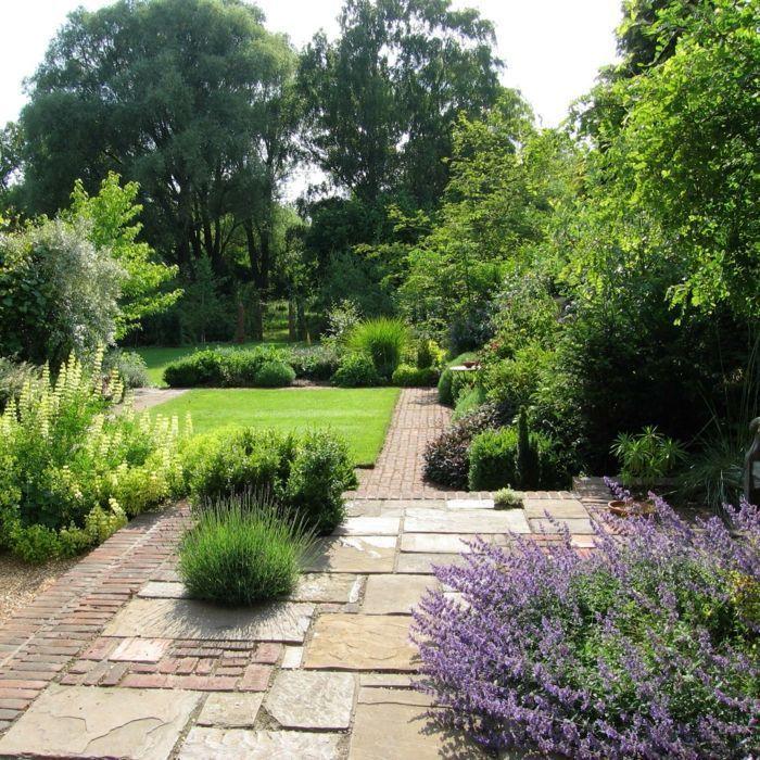 Gartengestaltung Gehweg Pflanzen elegant angeordnet – #elegant #Garten #ge …