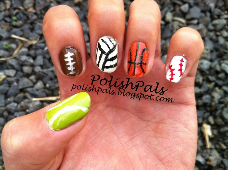 The 25 best volleyball nail art ideas on pinterest volleyball learn how to create sport themed nails here tennis ball football volley prinsesfo Choice Image