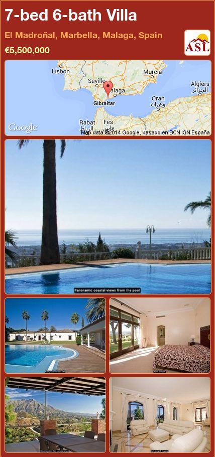 7-bed 6-bath Villa in El Madroñal, Marbella, Malaga, Spain ►€5,500,000 #PropertyForSaleInSpain
