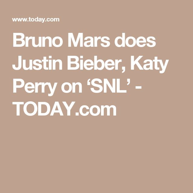 Bruno Mars does Justin Bieber, Katy Perry on 'SNL' - TODAY.com