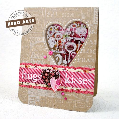 Heart cutout with acetate and image behind. With video tutorialWindows Cards, Hero Arts, Cute Cards, Valentine Day Cards, Diy Valentine'S Day, Heart Windows, Heroes Art, Art Techniques, Heart Cards