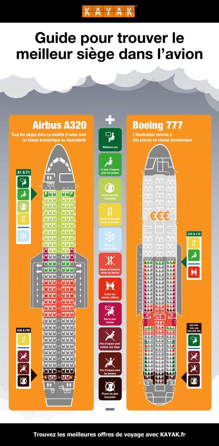 Guide pour trouver le meilleur siège dans l'avion – infographie