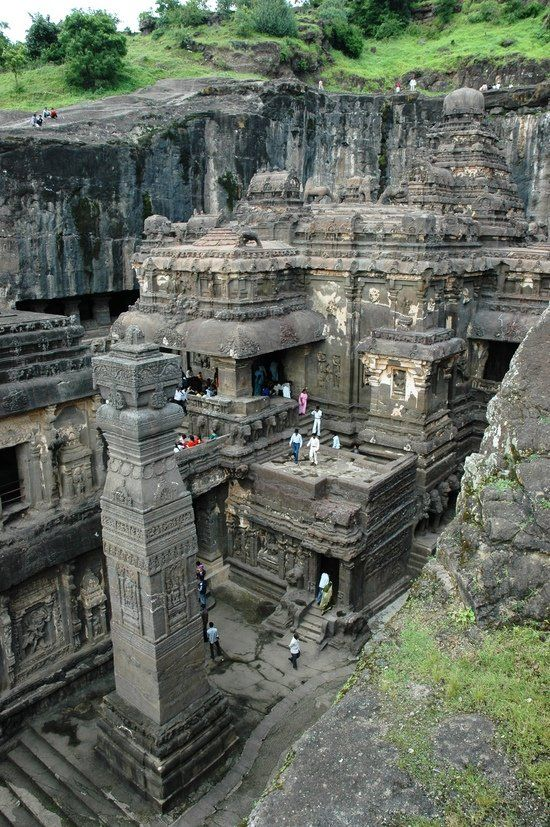 Ellora,is an archaeological site, 29 km North-West of the city of Aurangabad in the Indian state of Maharashtra built by the Rashtrakuta dynasty.