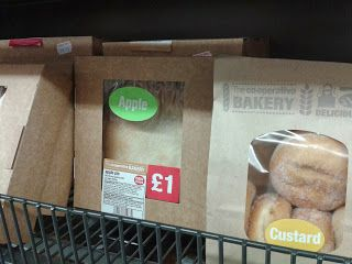 Jam and custard donuts from Co-op Supermarket are vegan.