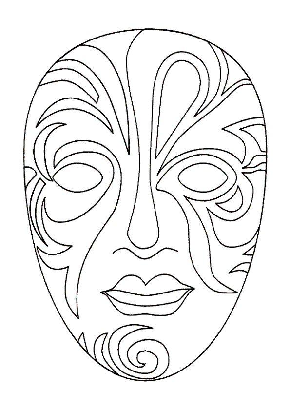 Coloriages masque venise