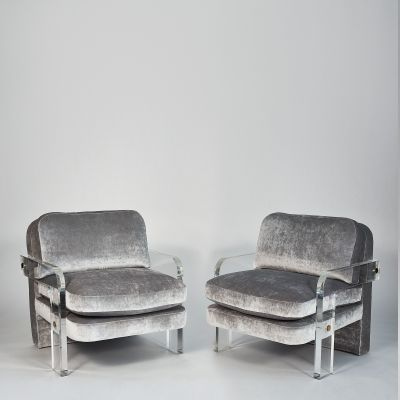 Vladimir Kagan Pair of Lucite Lounge Chairs Vladimir Kagan USA c 1970 s