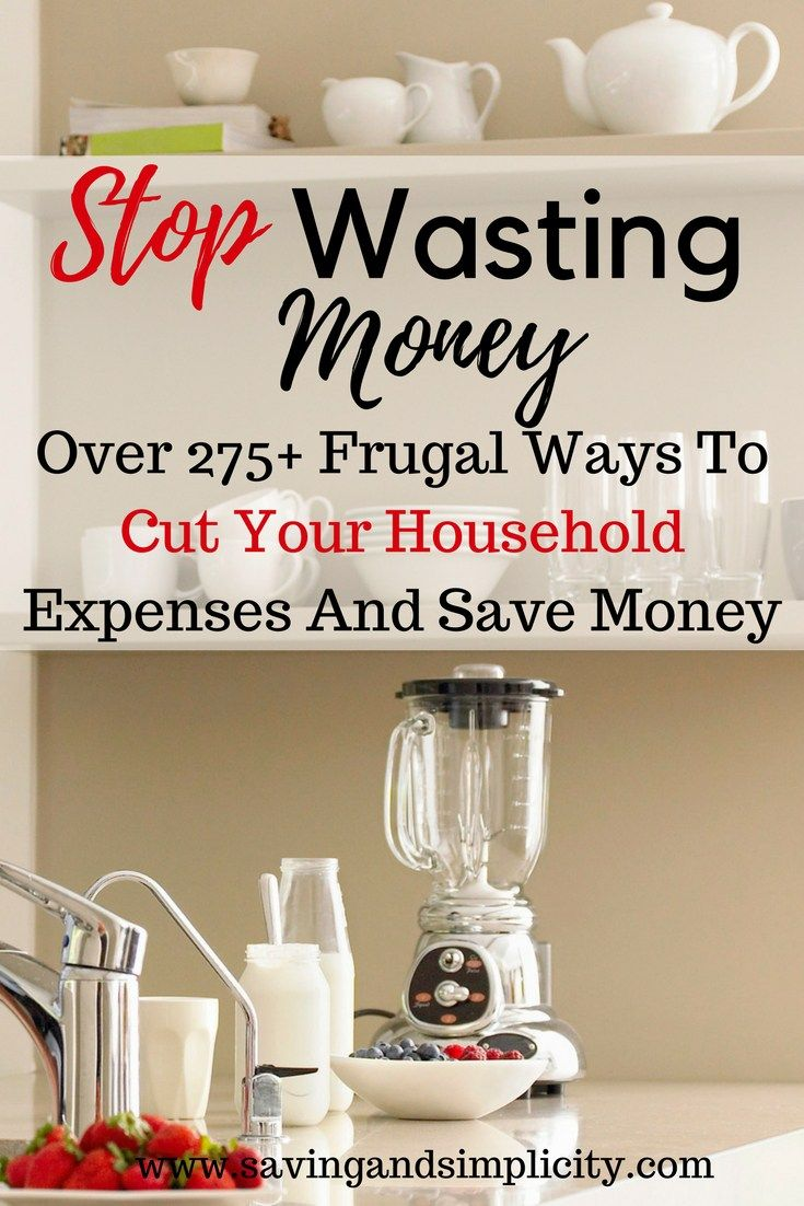 Frugal living at its best. Learn how to lower your household expenses and start saving money. Learn over 275 frugal living ways to cut your household expenses. Start saving money, stressing less and living more.