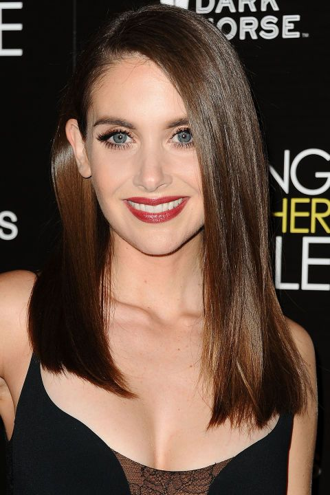 The 10 best haircuts for spring 2016: Alison Brie's straight cut