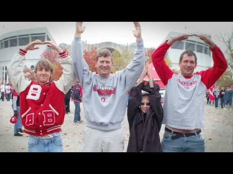"""Gameday O-H-I-O...It started out as a simple football cheer. But today, """"O-H-I-O"""" means the whole package: strong athletic traditions, major school spirit, academic achievements, and outreach efforts...Fans, band members, and even Brutus showed their Buckeye pride outside the Shoe before the Ohio State v. Minnesota game (Oct. 24, 2009)."""