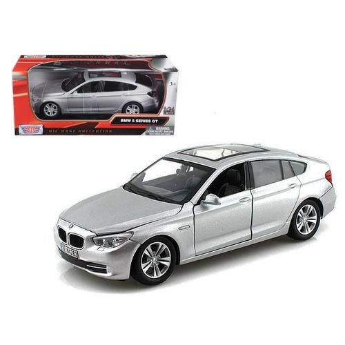 BMW 5 Series GT Silver 1/24 Diecast Car Model by Motormax