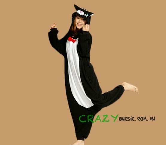 Black Cat Onesie. 25% off EVERYTHING in store. Free Express Delivery Australia-wide. Visit www.crazyonesie.com.au for more details. Visit our Facebook page https://www.facebook.com/crazyonesie for exclusive competitions and discounts