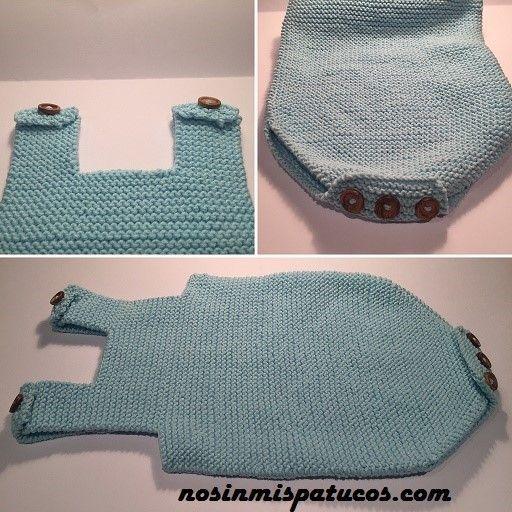 Ranita bebe. Talla 0-3 meses. Tejida en punto bobo con dos ovillos de katia 100% cotton color número 7. Agujas del número 3. Cinco botones de madera.