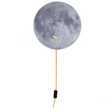 Moon wall lamp and noteboard