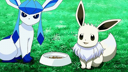 pokemon my gifs MY EDIT eevee glaceon my creations shiny pokemon ...