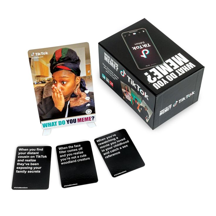 What Do You Meme Tiktok Edition Card Game What Do You Meme You Meme Card Games