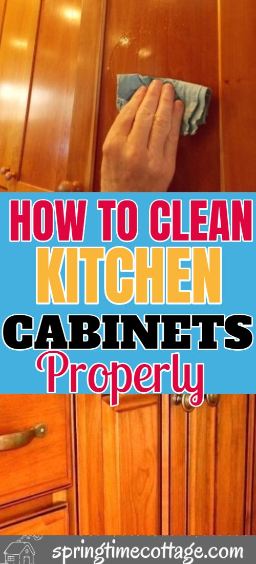 How To Remove Grease From Wood Cabinets Without Damage ...