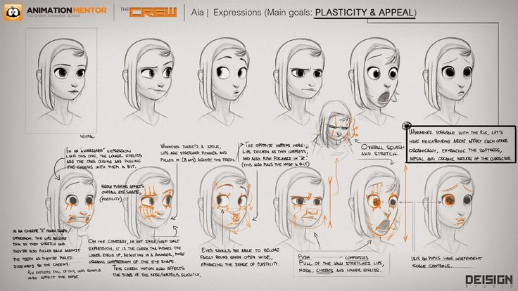 EXPRESSION SHEET & RIGGING of AiA for Animation Mentor by  http://www.deisign.com