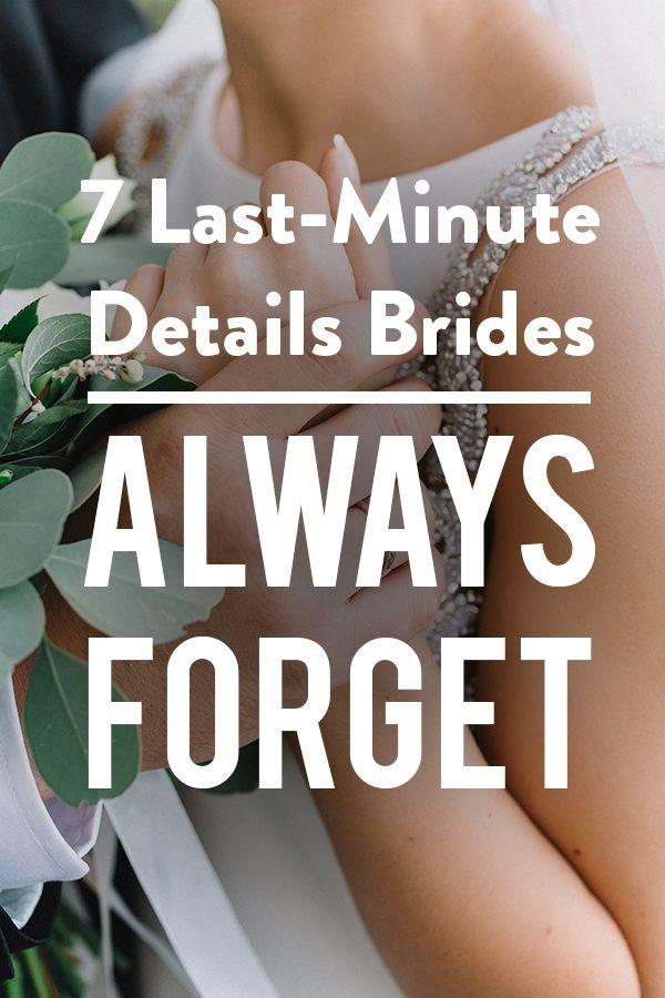 7 détails de dernière minute Les mariées oublient toujours – Wedding Bells