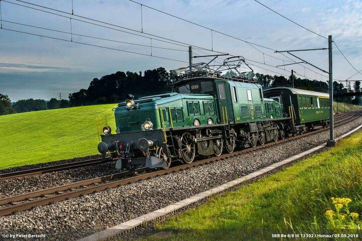 SBB Be 6/8 III 13302 Location: Rotkreuz (ZG) Date: 03-09-2016   Copyright: Peter Bertschi (CH) https://www.flickr.com/photos/croco67368/  Info vom Künstler:   Die Be 6/8 III 13302 ist mit einem kurzen Sonderzug unterwegs von Rapperswil über Thalwil, Zug und Luzern nach Hochdorf. Hier zwischen Rotkreuz und Honau.  3. September 2016  -----  The B 6/8 III 13302 on the track from Rapperswil via Thalwil, Zug and Luzern to Hochdorf, here between Rotkreuz and Honau.  September 3rd, 2016