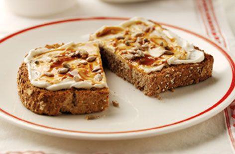 Soft cheese & marmite toast