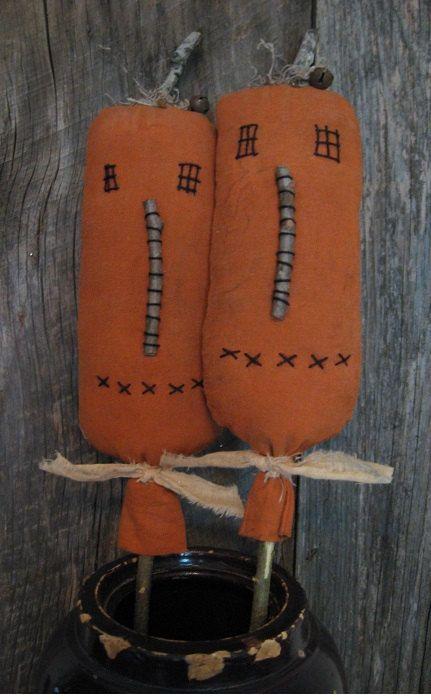 Primitive Pumpkin Pokes For Crocks Baskets Buckets 2 by annattic1