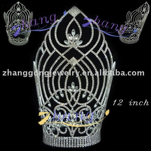 "12 "" tall large beauty queen diaomd pageant crown $5~$50"