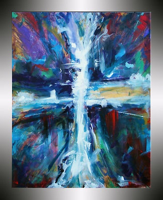 cross painting original painting on canvas by heather day