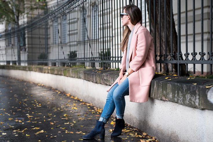 Coat: Zara | Denim: GAP | Boots: Vintage | Sweater: COS | Sunnies: Céline.