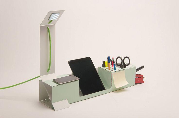 .ORG: a folded, durable, lightweight, laser cut desk organizer