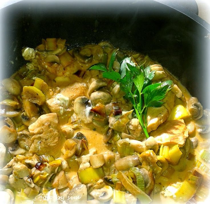 Simi´s Sattmacher- Rezepte und mehr.....: Hähnchenpfanne mit Lauch