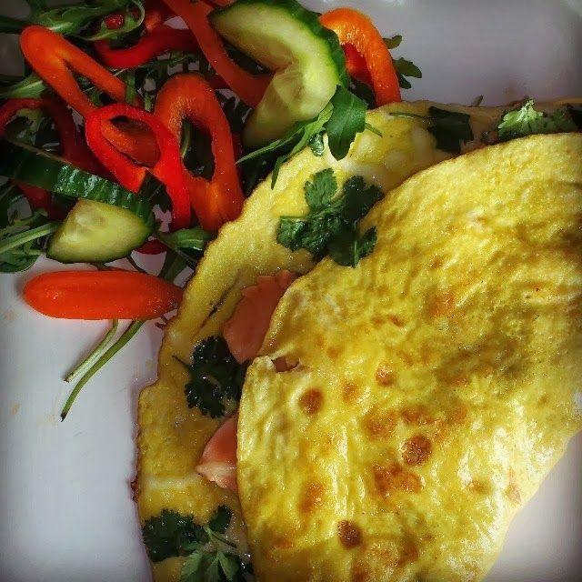 Edel's Mat & Vin : Omelett med fersk laks og asiatisk touch ✿