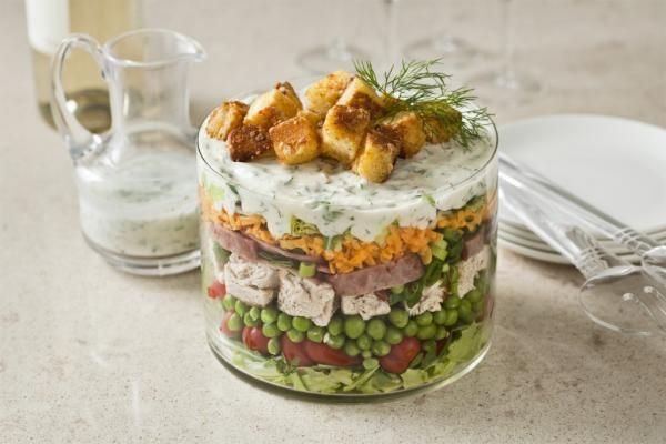 Retro Turkey Club Salad – A tasty Spring dish.  For more tasty poultry recipes visit: grannys.ca