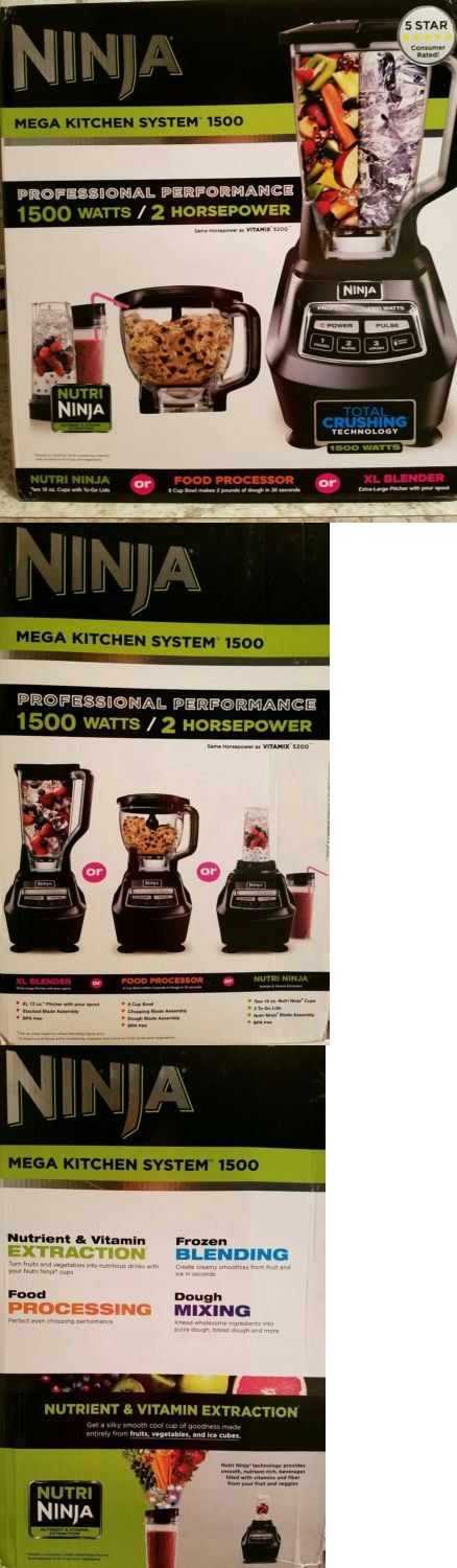 Small Kitchen Appliances: Ninja Mega Xl Kitchen System Professional Blender~Juicer~Dough~Processor *New* BUY IT NOW ONLY: $169.99