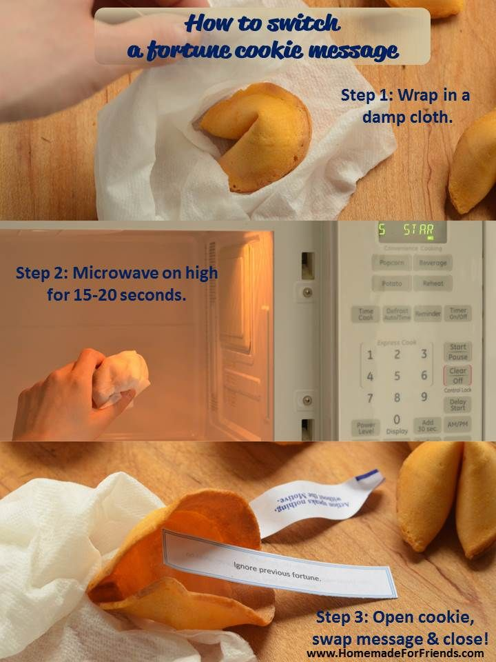 How to switch a fortune cookie message