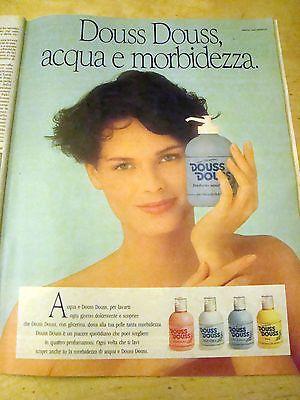 PUBBLICITA' ADVERTISING WERBUNG 1989 DOUSS DOUSS SAPONE LIQUIDO (G42)