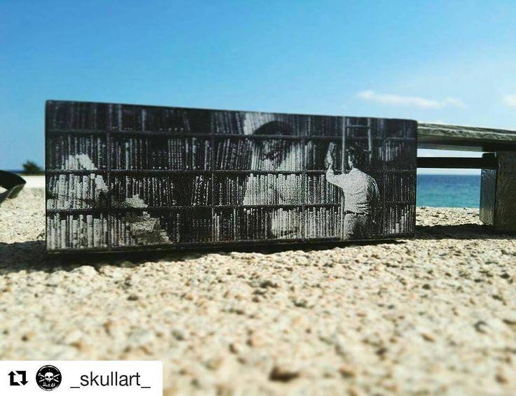 Skull Art On The Beach Ideas