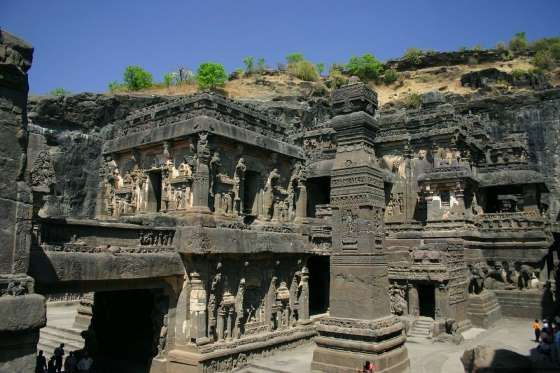 India's Ellora Caves are considered the pinnacle of Indian rock-cut architecture. The site's 34 cave... - Wikipedia