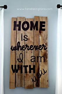 diy room decor. wood panels with quotes