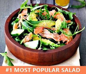 Smoked Salmon, Avocado and Rocket (Arugula) Salad - Fuss Free Cooking