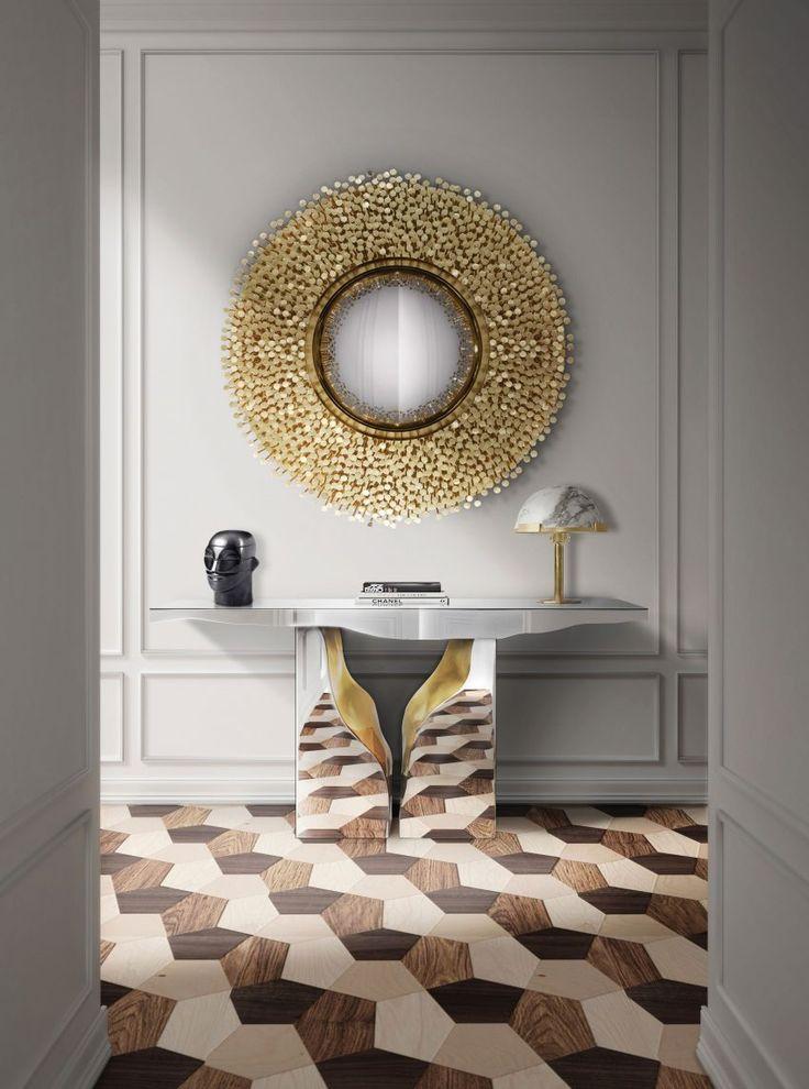 Die besten 25+ moderne Konsolentische Ideen auf Pinterest - wohnzimmer luxus schwarz weis